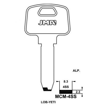 Llave de seguridad modelo MCM-4SS de acero