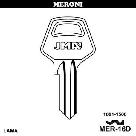 Llave serreta modelo mer16d (caja 50 unidades) JMA