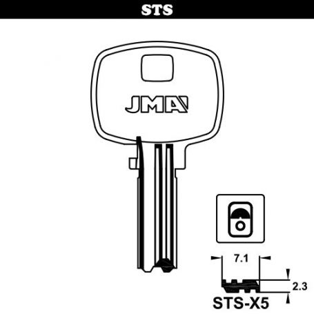 Llave seguridad laton mod stsx5 (bolsa 10 unidades) JMA