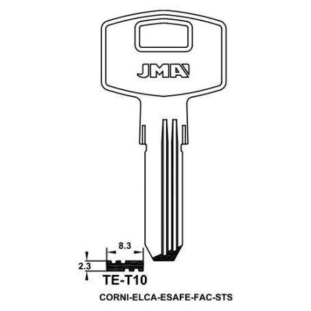 Llave de seguridad modelo TE-T10 de acero