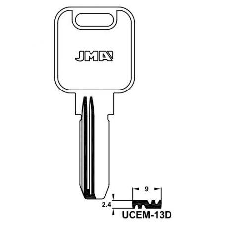 Llave seguridad alpaca mod ucem13d (bolsa 10 unidades) JMA