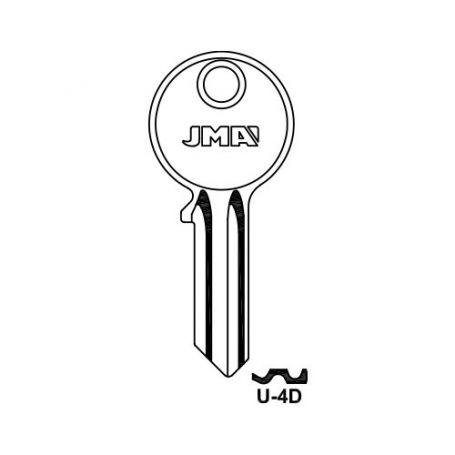 Llave serreta grupo b modelo u4d (caja 50 unidades) JMA