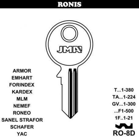 Llave serreta grupo C modelo RO-8D (caja 50 unidades) JMA