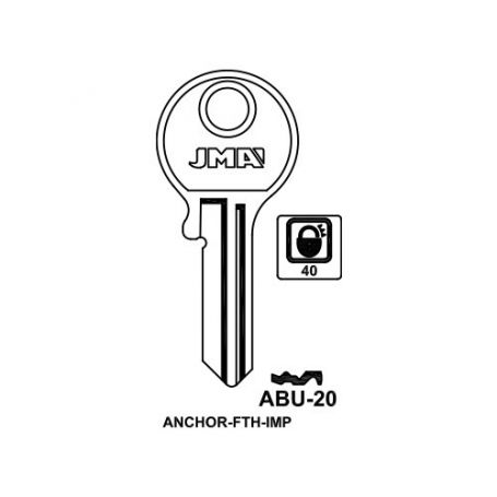Llave serreta modelo abu20 (caja 50 unidades) JMA