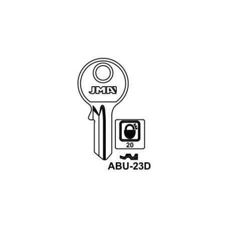 Llave serreta modelo abu23d (caja 50 unidades) JMA