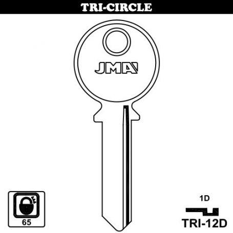 Llave serreta modelo tri12d (caja 50 unidades) JMA