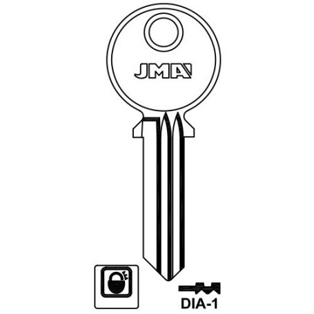 Llave serreta modelo dia1 (caja 50 unidades) JMA