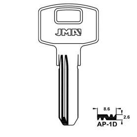 Llave de seguridad laton modelo ap-1d (bolsa 10 unidades) JMA