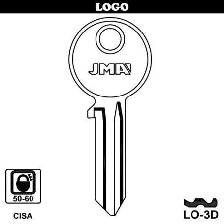 Llave serreta mod lo-3d (caja 50 unidades) JMA