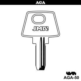 Llave de seguridad modelo AGA-50 de acero (bolsa 10 unidades) JMA