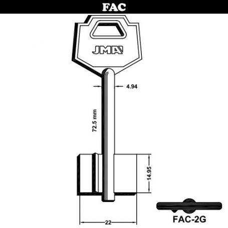 Llave de gorja laton modelo FAC-2G