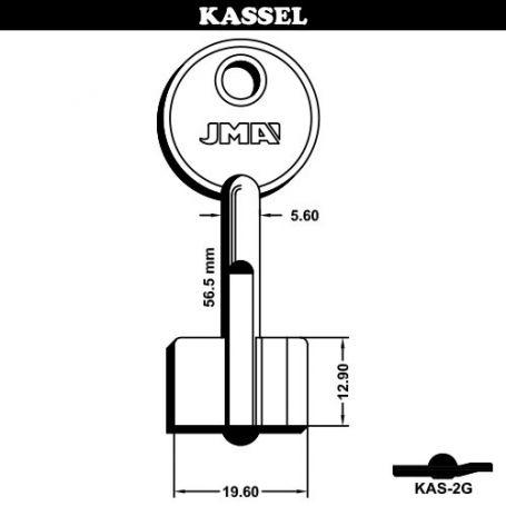 Llave de gorja modelo KAS-2G