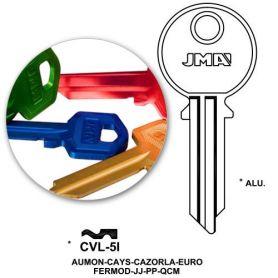 Llave serreta CVL-5I aluminio colores variados (caja 50 unidades) JMA