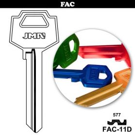 Llave serreta FAC-11D aluminio colores variados