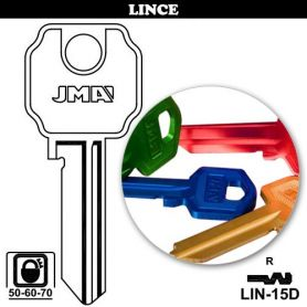 Llave serreta LIN-15D aluminio colores variados (caja 50 unidades) JMA