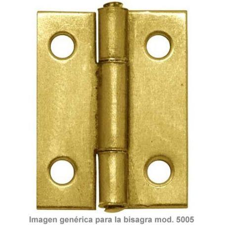"Bisagra 5005 1""1/2 37x26mm latonado Micel"