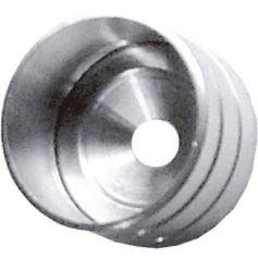 Casquillo tubo lateral 16mm niquel Micel