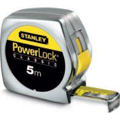 Flexometro powerlock classic caja abs 5m x 19mm stanley