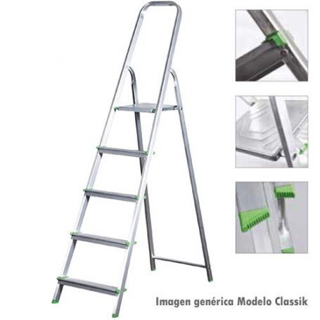 Escalera de aluminio Ferral Classik 8 peldaños domestica 150kg