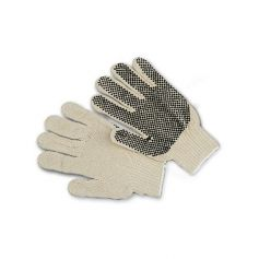 Guante de lana blanca con puntos negros PVC Cipisa