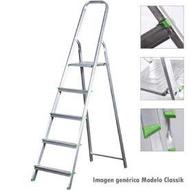 Escalera de aluminio Ferral Classik 4 peldaños domestica 150kg