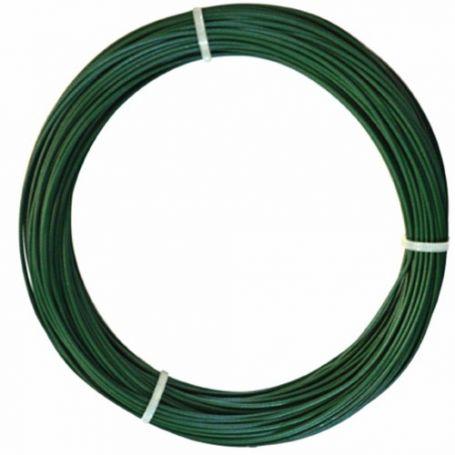 Alambre plastificado verde 2,4mm x 25mt intermas