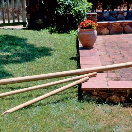 Poste redondo madera 6cm altura 2mt intermas