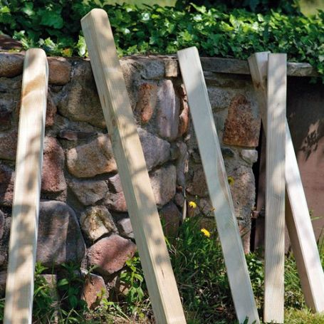 Poste cuadrado madera 9x9 mm altura 100cm intermas