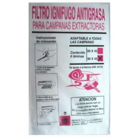 Filtro campana papel 90 ignífugo Sanfor