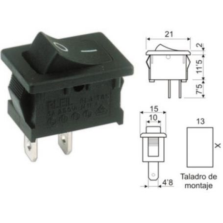 Interruptor unipolar 10A/250V DH