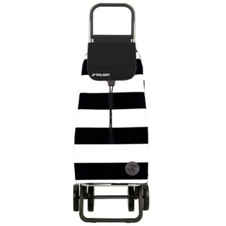 Carro de la compra Pack Lido Lógic Dos+2 Blanco/Negro Rolser