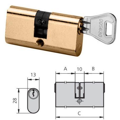 Cilindro laton pulido derecho 5963/2222/3 cvl