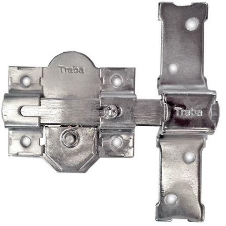 Cerrojo 301-R Niquelado 50mm misma clave Traba