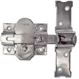 Cerrojo 301-R Niquelado 70mm misma clave Traba