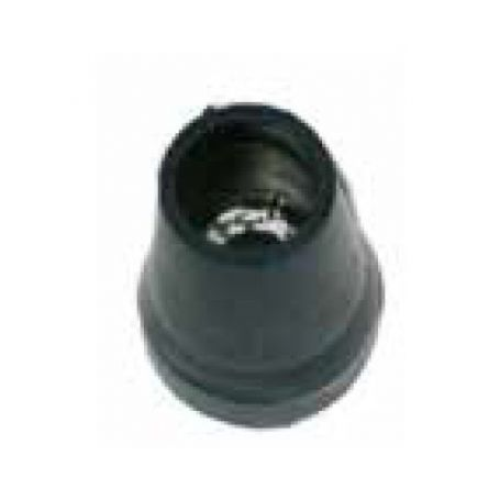 Contera exterior goma muleta con arandela hierro MU-18 negro Sysfix