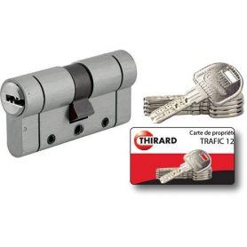 Cilindro Europerfil Thirard serie Trafic 12 30x30 niquelado 5 llaves