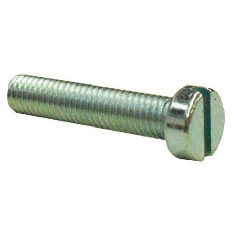 Tornillo cilíndrico para metales 6x30mm DIN 84 zincado (caja 200 unidades) GFD