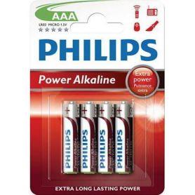Pila alcalina LR3 Power Alkaline Philips (4 unidades)
