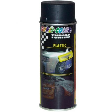 Pintura spray para plasticos 400 ml negro mate motip