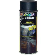 Pintura spray para plásticos 400ml negro mate Motip