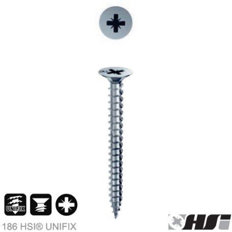 Tornillo para aglomerado 3,5x30 zincado pozidriv PZ cabeza plana (1000 unds) Heco