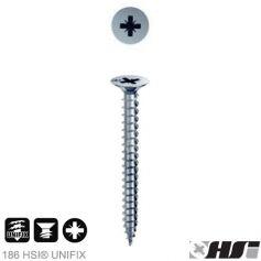 Tornillo para aglomerado 3,5x25 zincado pozidriv pz cabeza plana (1000 unds) Heco
