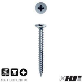 Tornillo para aglomerado 3,5x20 zincado pozidriv pz cabeza plana (1000 unds) Heco