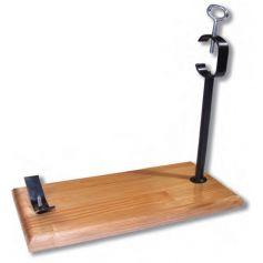 Jamonero modelo D Negro base madera 450x185x30mm FCDB