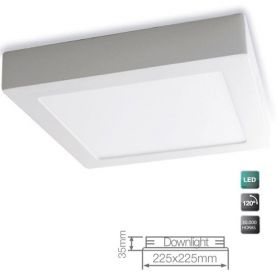 Downlight superficie led cuadrado 18w blanco 6000k gsc