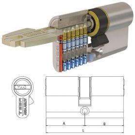 Medio cilindro Tesa T60 50x10 niquelado 5 llaves R13 M6505010N