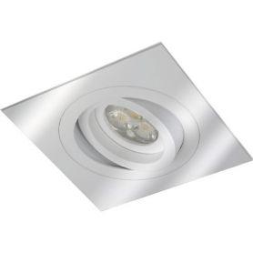 Empotrable aluminio rayado osc. cuadrado 50mm aluminio ledinnova
