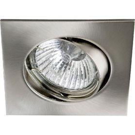 Empotrable aluminio oscilante cuadrado 50mm niquel ledinnova