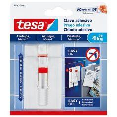 Clavo adhesivo ajustable para azulejos y metal 2x4kg Tesa