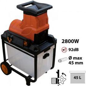 Trituradora eléctrica de ramas Ø45mm 2800W LOBRE045 Leman
